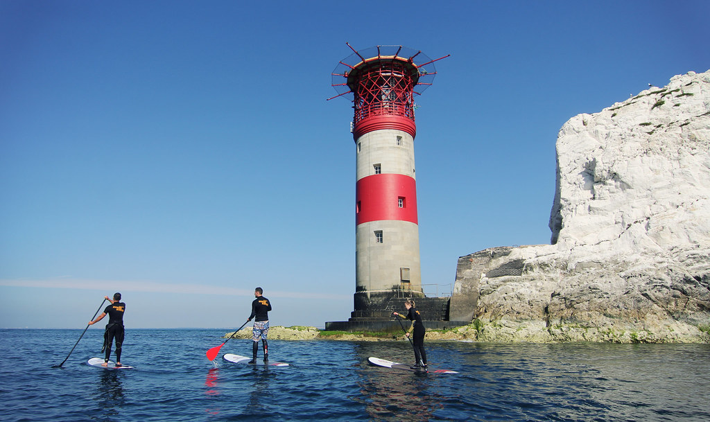 SUP at the Needles one of the best isle of wight adventures image copyright of www.VisitIsleOfWight.co.uk