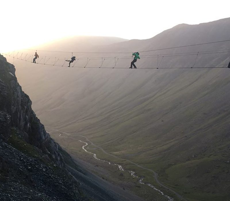 Honister Pass Infinity Bridge experience in the Lake District