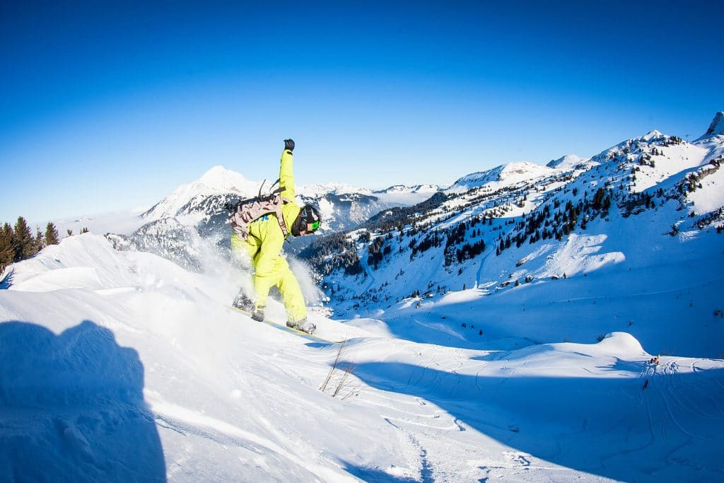 5 day intro to off piste snowboarding course in Morzine & Avoriaz