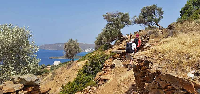 Hike Greek Island of Andros: Self guided Cyclades hiking holiday