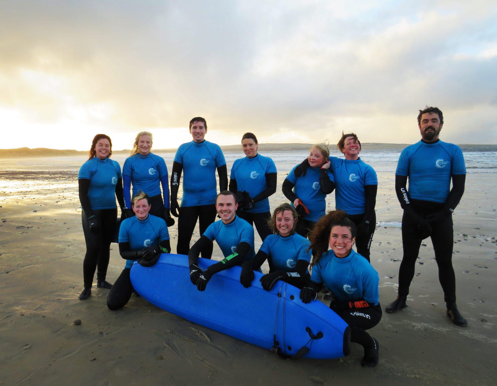Small group 2 hour beginner surf lesson at Dunnet Beach Scotland
