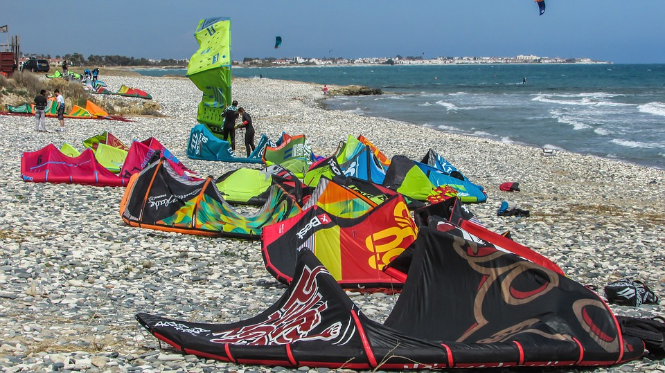 Guide to kitesurfing holidays in Cyprus Pixabay royalty free image from kiti beach