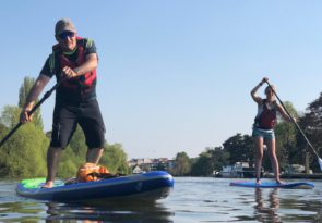 Paddleboard session on the Thames