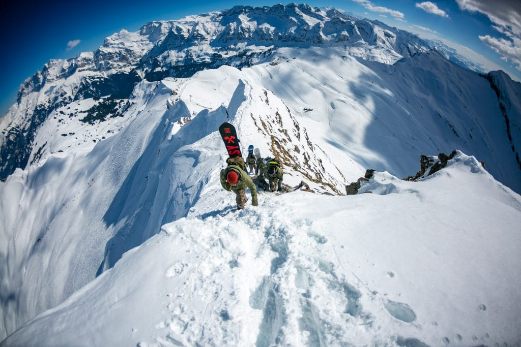 Advanced France backcountry snowboarding holiday in La Grave