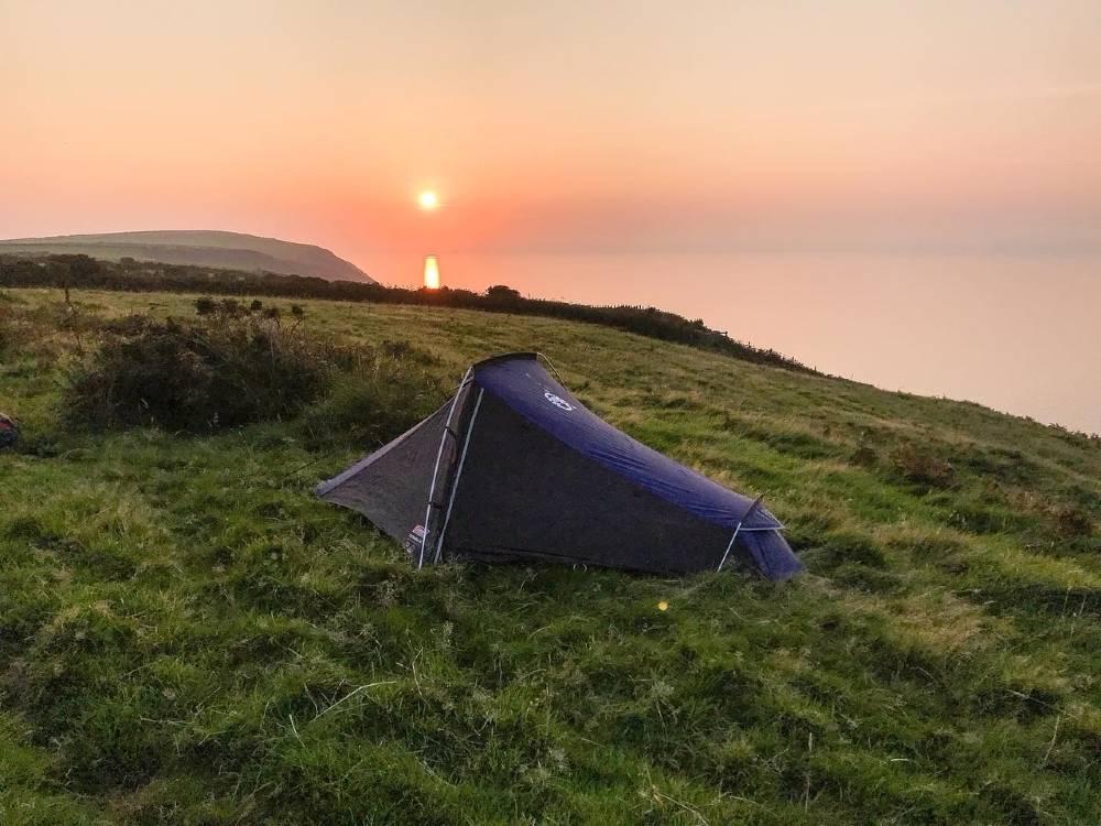 Wild camping on Pembrokeshire coastal Path Copyright of Matt Lynch