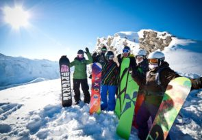 group snowboarding course in Avoriaz, Morzine & Les Gets with Mint Snowboarding