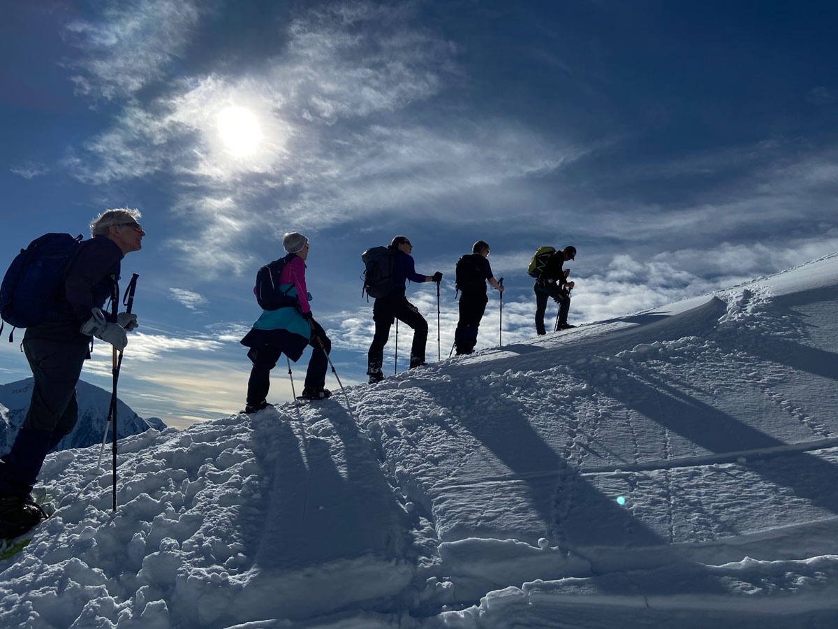 Guided Alps snowshoeing holiday in a luxury French farmhouse