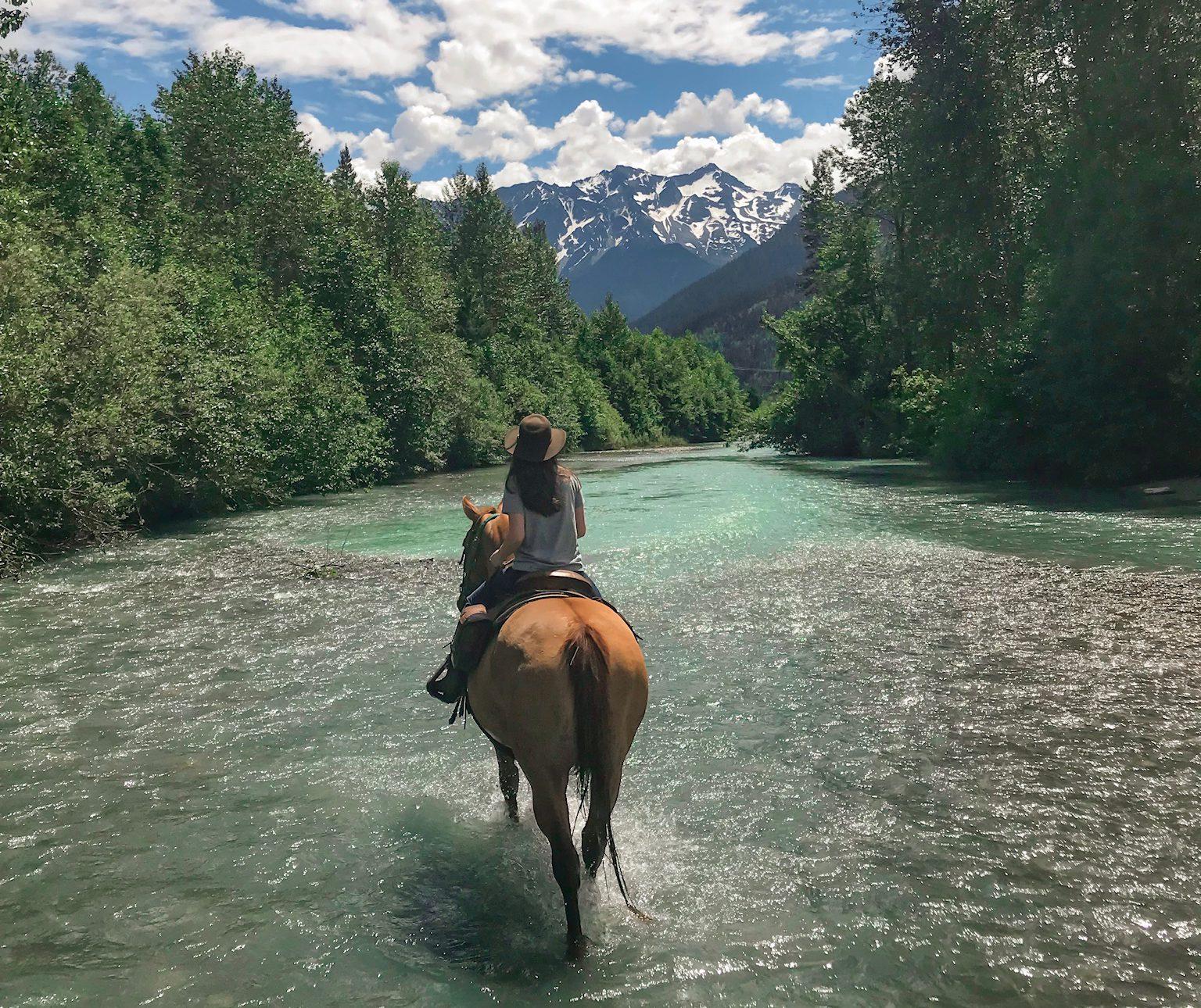 One hour Pemberton horse riding experience near Whistler, Canada