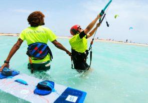 Beginner kitesurfing course in Egypt Hurghada kitesurf lessons with Sick Dog Surf