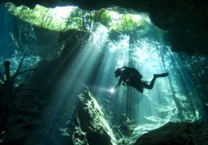 scuba diving at the Yucatan Cenotes
