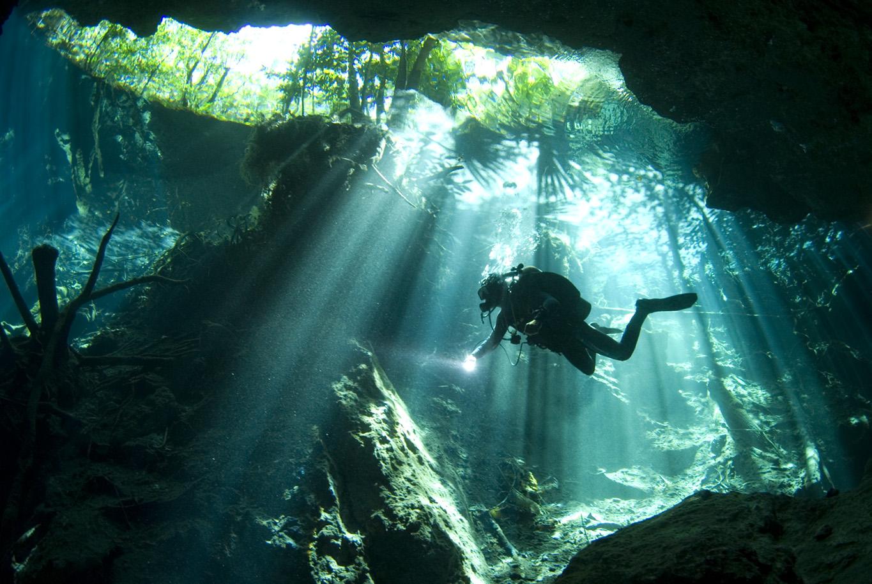 2 Tank Scuba Dive in Mexico: Scuba Diving at Yucatan Cenotes