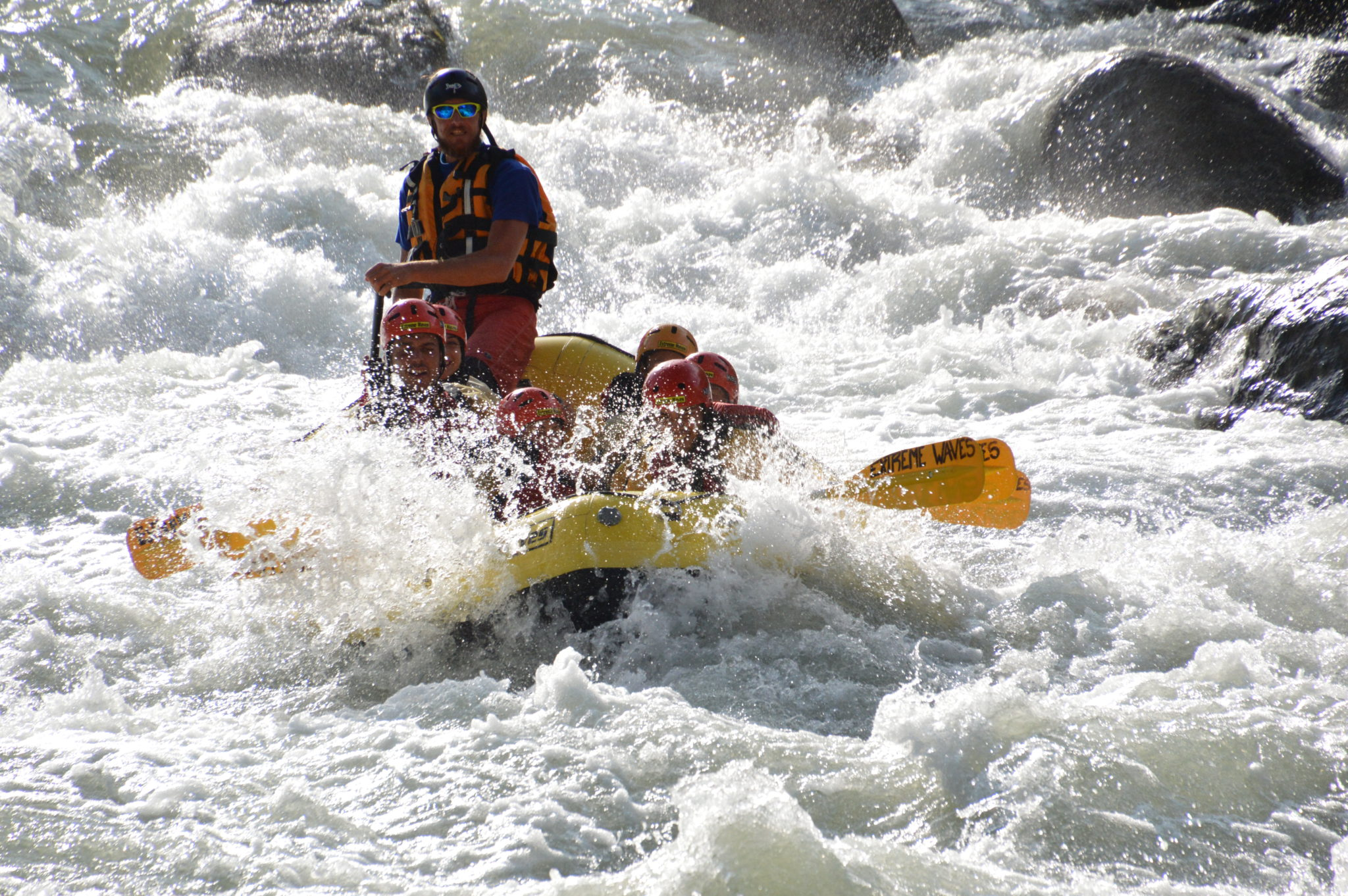 Upper Noce River white water rafting experience in Italy