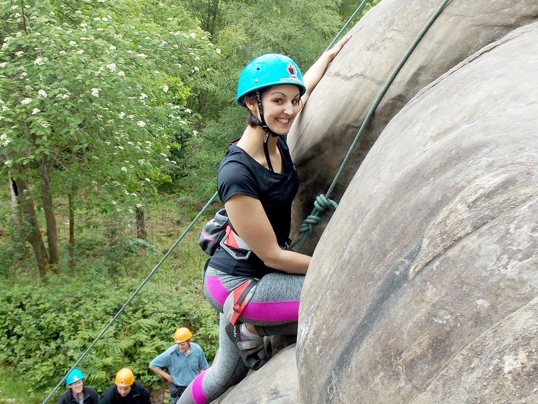 Sussex rock climbing course: Learn to climb at Harrisons Rocks