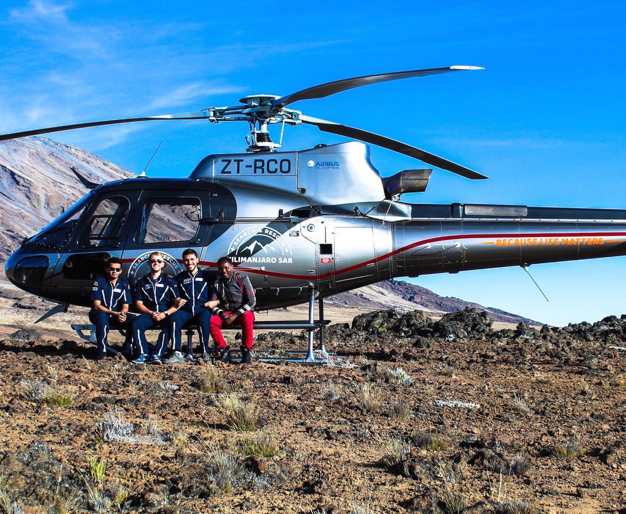 Scenic Mount Kilimanjaro helicopter flight in Tanzania