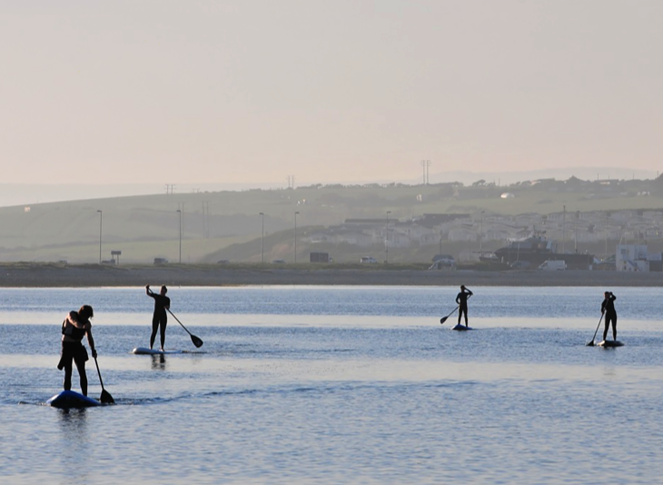 Dorset Stand Up Paddling tuition: 1 or 2 hour Portland SUP course