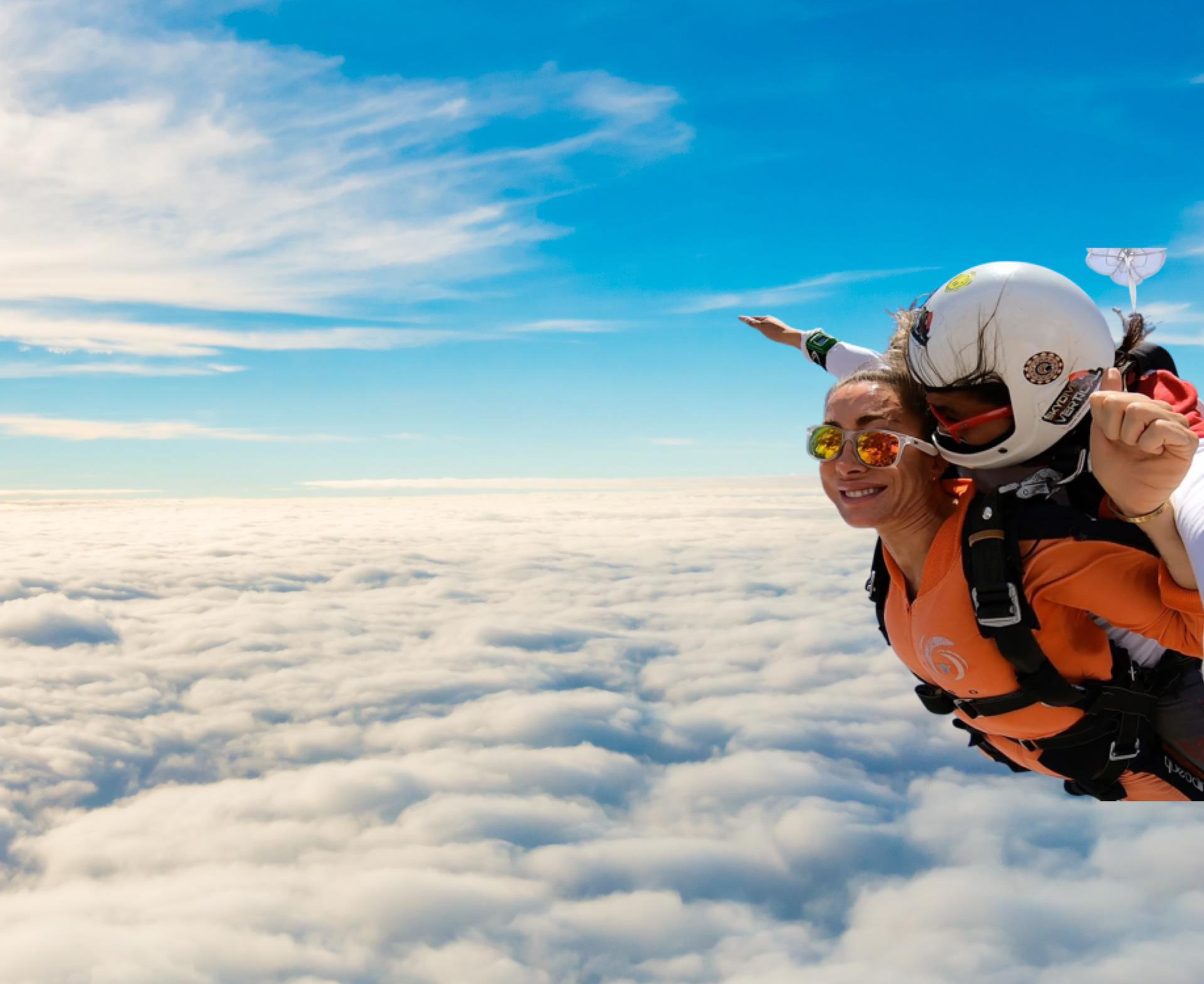 Portugal tandem skydiving experience in Alentejo: 16,400ft/5,000m