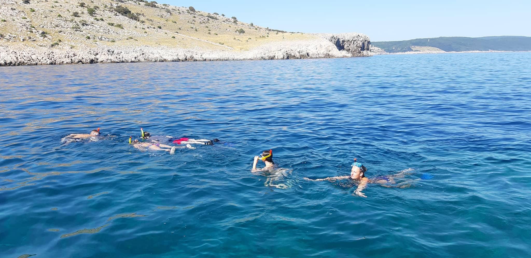 Island of Krk snorkeling boat trip experience in Croatia