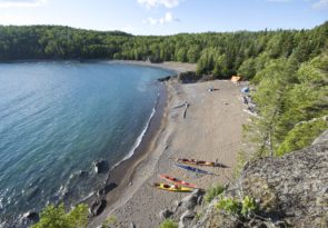 wilderness kayaking on Lake Superior