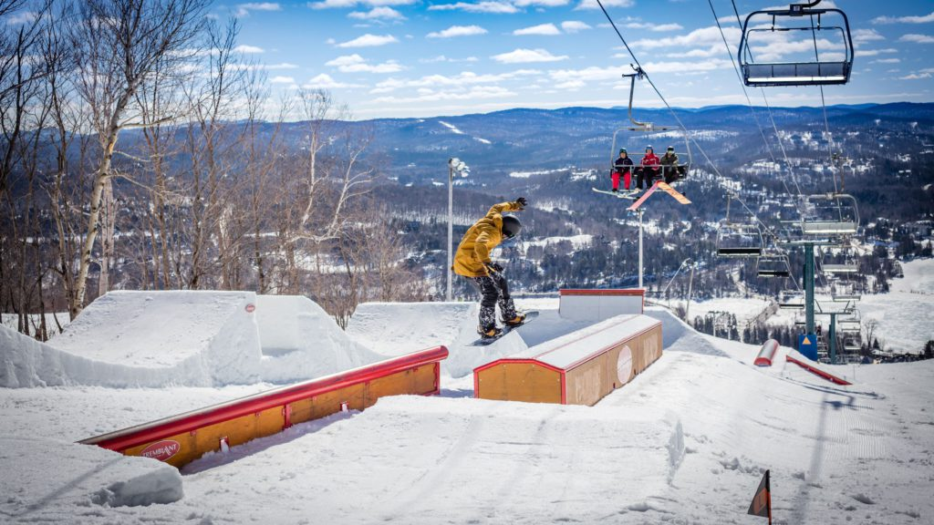 Guide to Mont Tremblant skiing in Quebec snowparks image courtesy of tremblant.ca