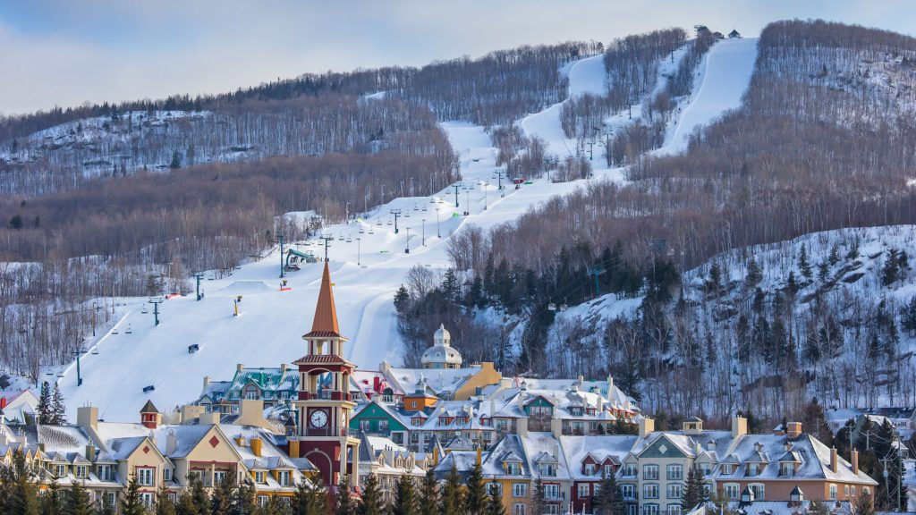 Guide to Mont Tremblant skiing in Quebec the village image courtesy of tremblant.ca