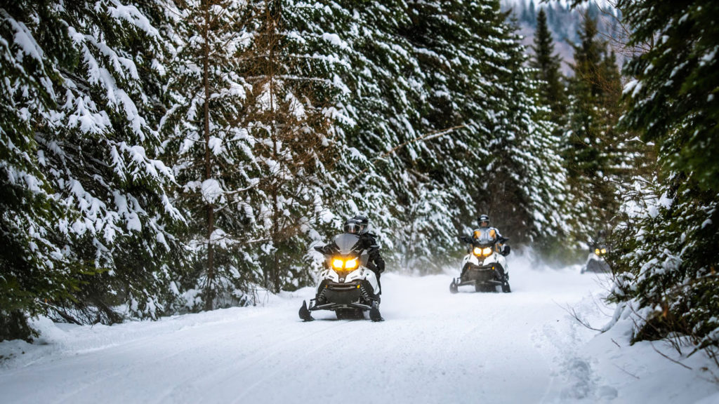 Snowmobiling in Mont Tremblant the Best east Canada ski resort Image courtesy of tremblant.ca