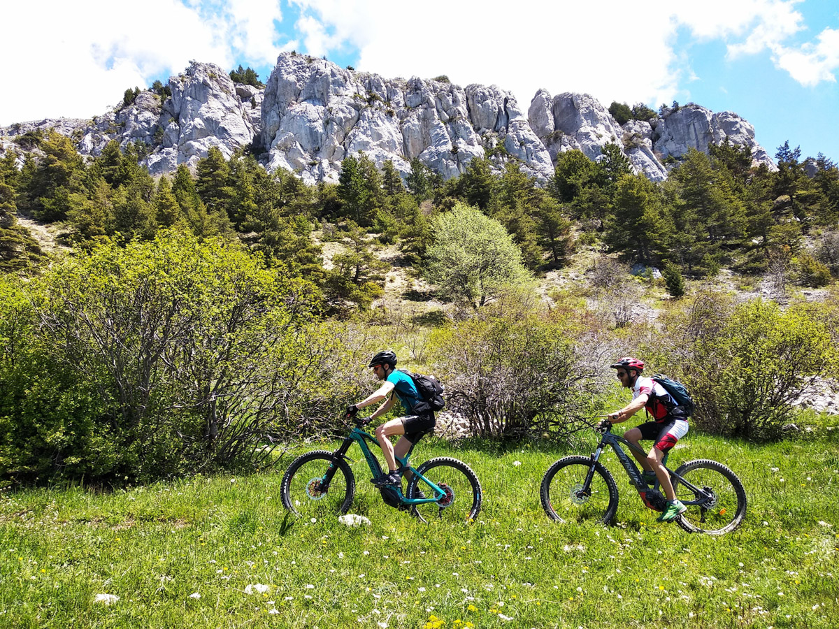 France guided electric mountain bike trip: eMTB Alps to Provence