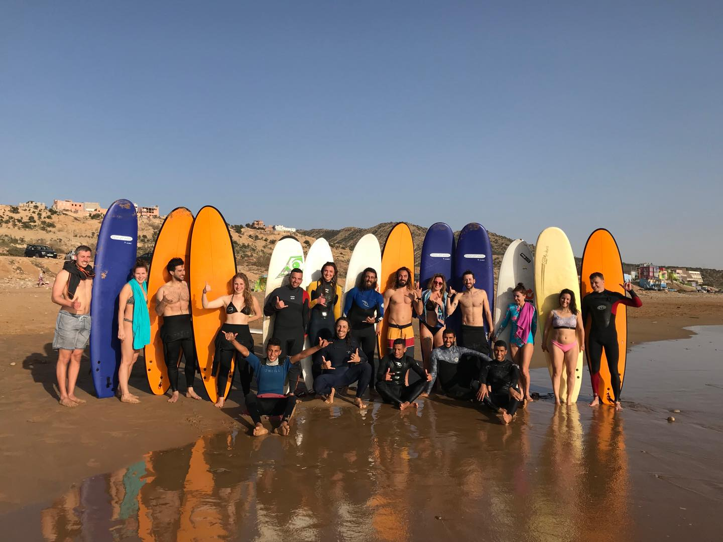 Morocco beginners surfing holiday in Moknari inc. lessons