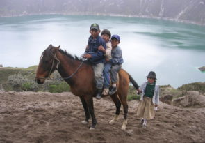 Horseback Riding Ecuadorian Highlands in the Andes