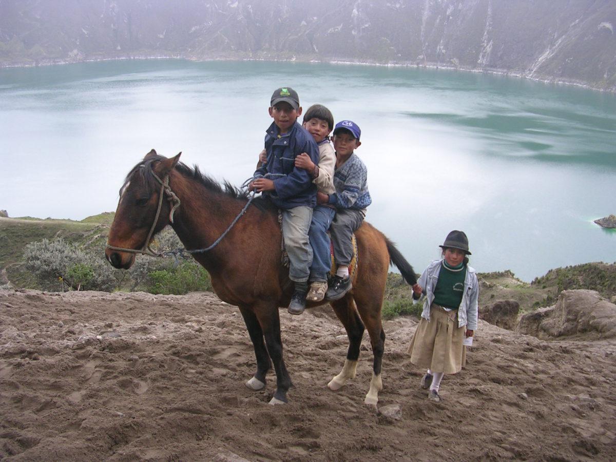 Horseback Riding Ecuadorian Highlands in the Andes