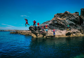 North Wales family coasteering adventure on Anglesey