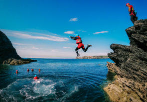 Anglesey coasteering experience