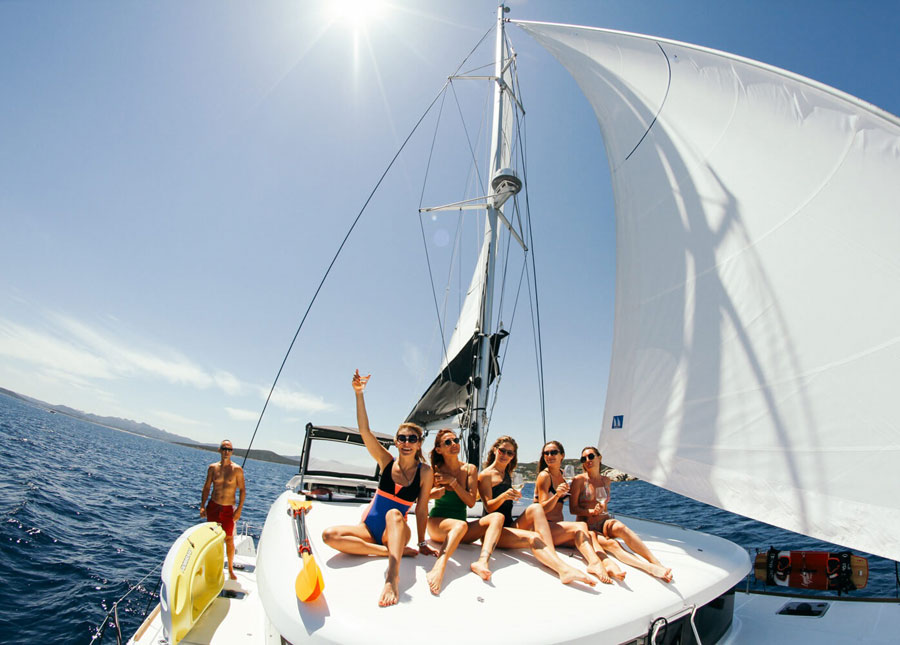Sardinia & Corsica kite cruise: catamaran kitesurfing holiday
