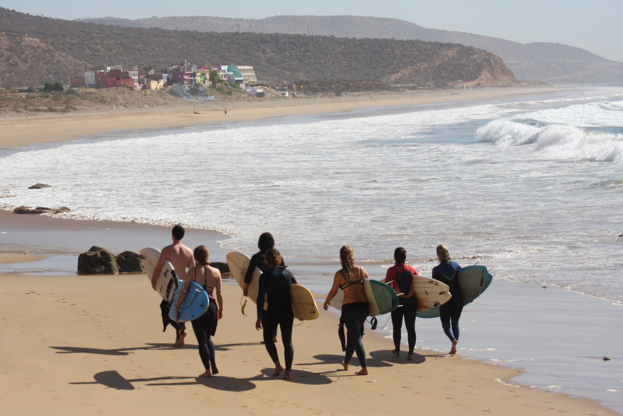 One week intermediate Tamraght surfing holiday in Morocco