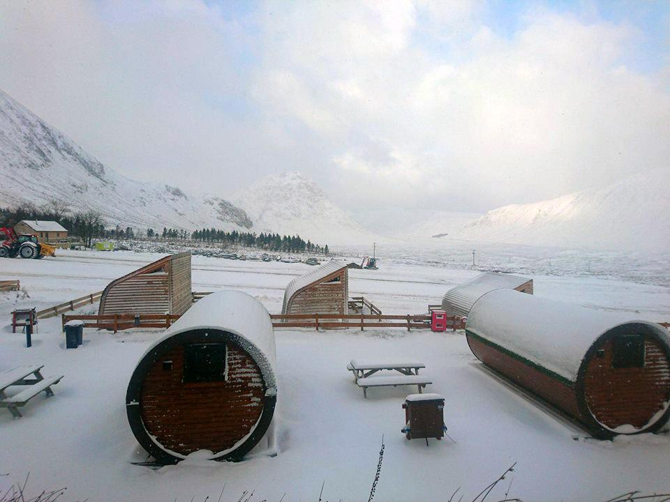 Year round Glencoe microlodge accommodation in Scotland