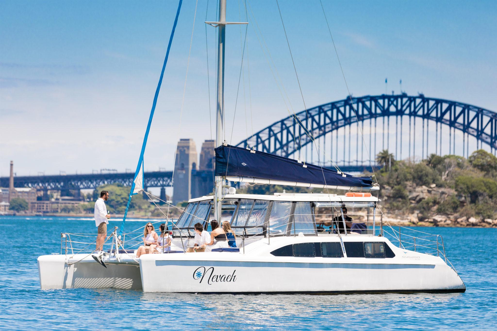 Private Catamaran Hire on Sydney Harbour, Australia