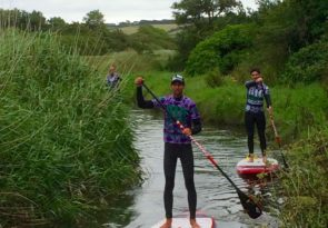 Newquay beginner SUP lesson (tour) in Crantock