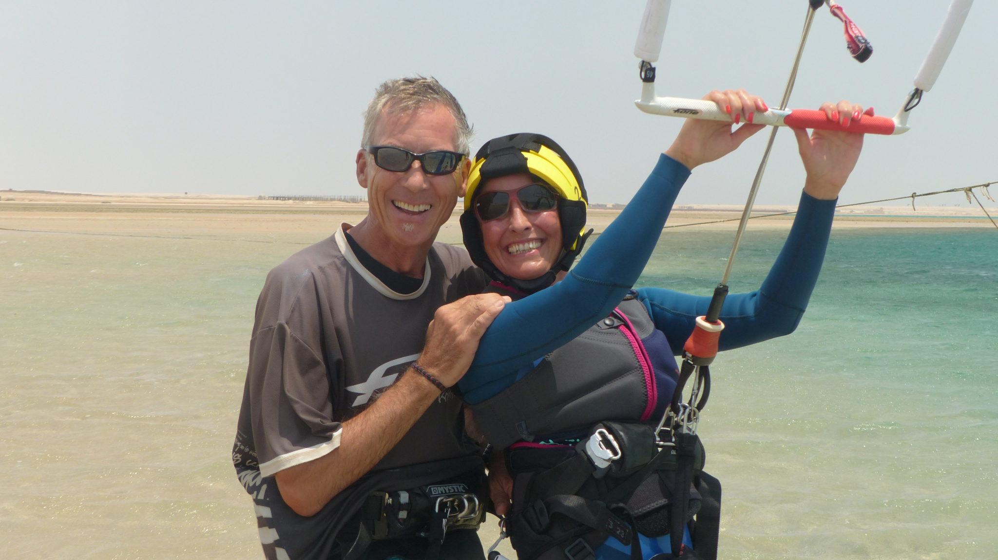3 day beginner kite lessons in Soma Bay: Egypt kitesurfing course