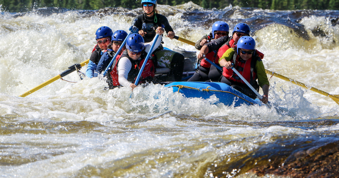 9 day Quebec rafting adventure on the Magpie River in Canada