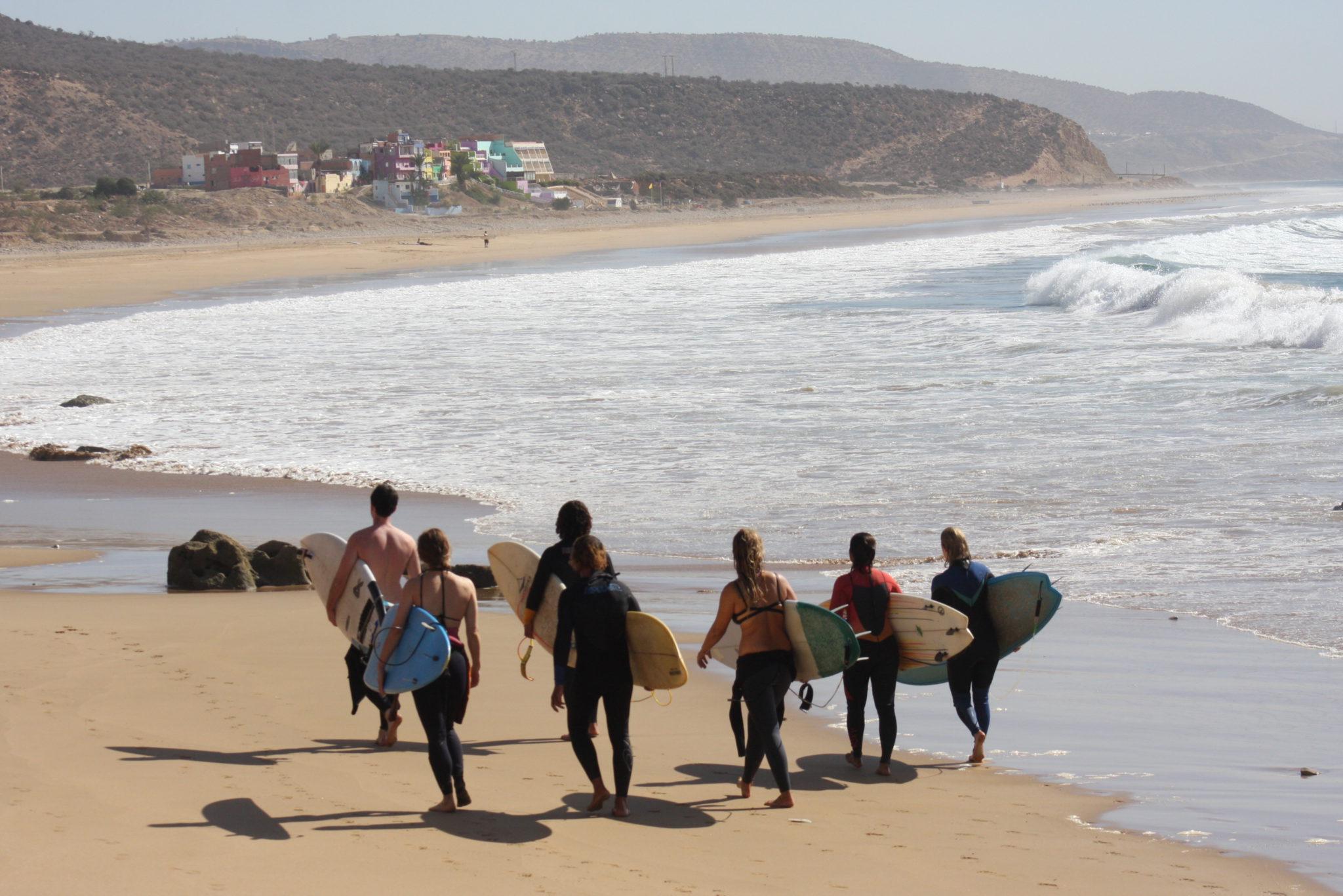 1 day Tamraght intermediate surf course in Morocco