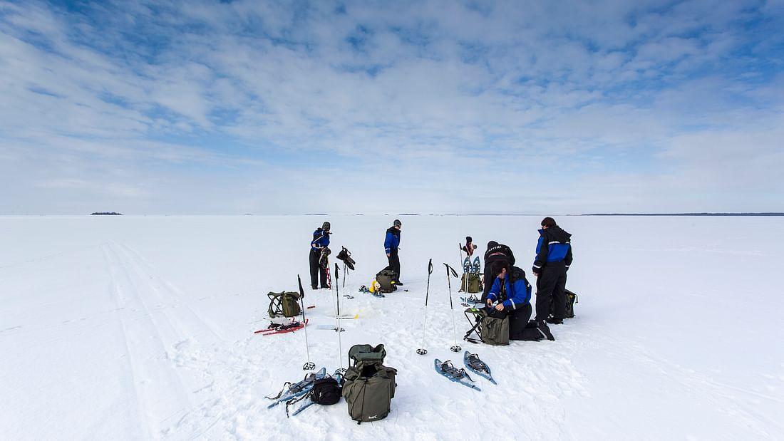 Arctic Ice Fishing in Lapland Adventure