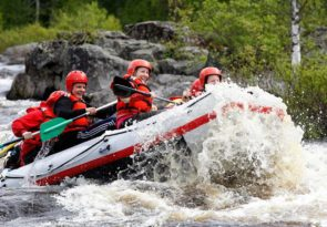 Arctic River Rafting in Lapland Adventure