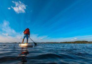 Arctic Paddle Boarding under Midnight Sun