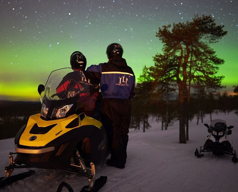 Lapland Snowmobile Northern Lights Photography Trip