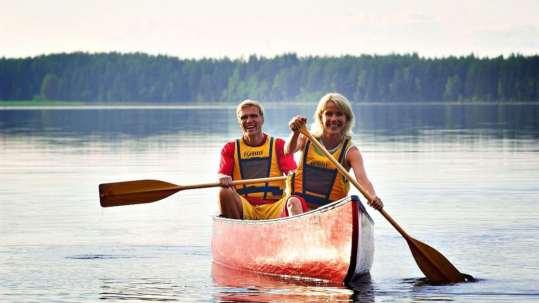 Arctic Canoeing with Lapland Reindeer & Husky Farm Trip