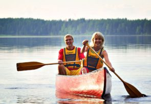 Arctic Lapland canoeing experience in Rovaniemi, Finland