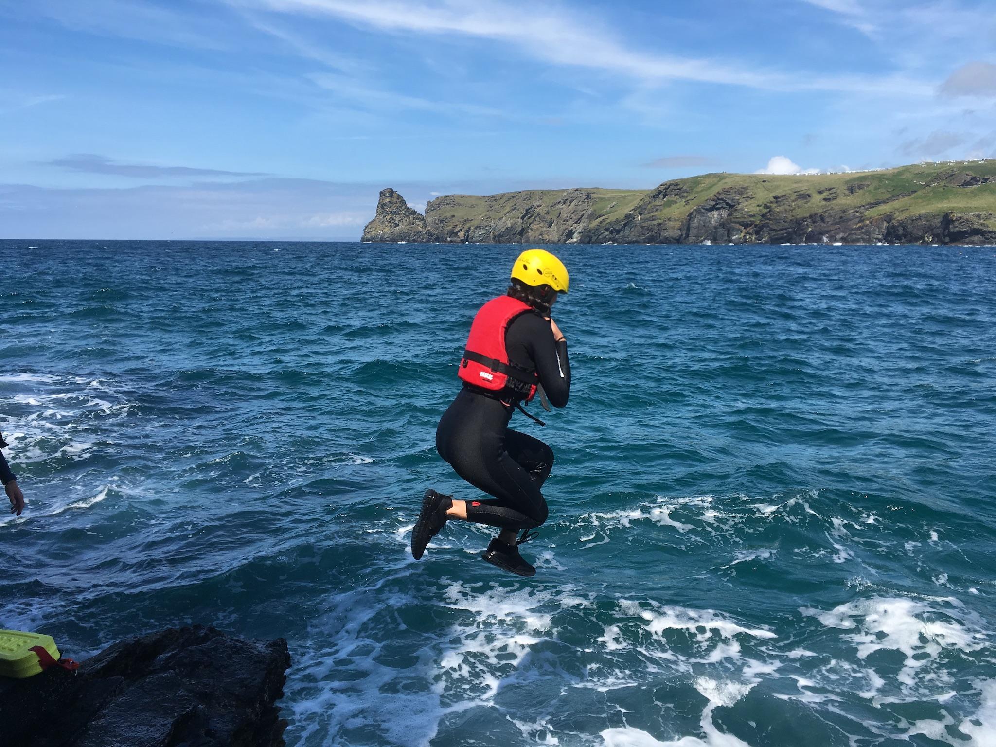 Cornwall coasteering experience near Widemouth Bay and Bude