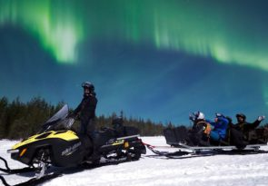 Lapland Northern Lights Snowmobile Sleigh Ride with BBQ