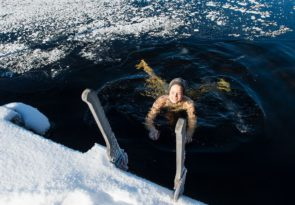 Lapland Lakeside Sauna with Arctic Ice Fishing and Ice Swimming