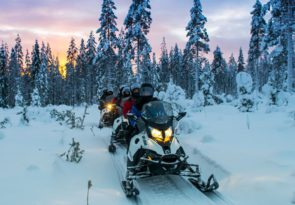 Lapland Snowmobile Day Tour with Reindeer & Huskies