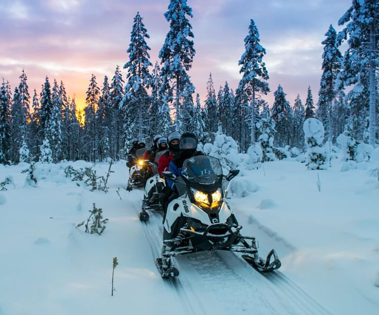 Lapland Snowmobile Day Tour in Finland with Reindeer & Huskies